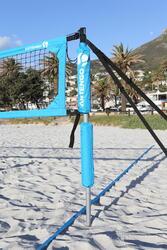 Beach tennis net blauw - 593288