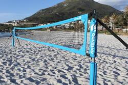 Beach tennis net blauw - 593289