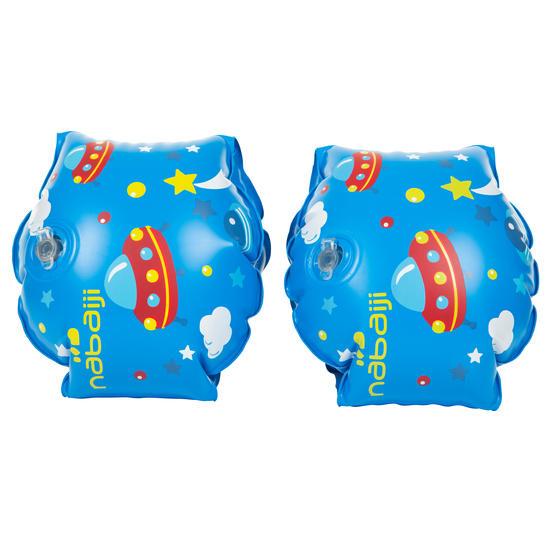 """Blauwe opblaasbare zwembandjes met print """"Zebro"""" 11-30 kg - 593884"""