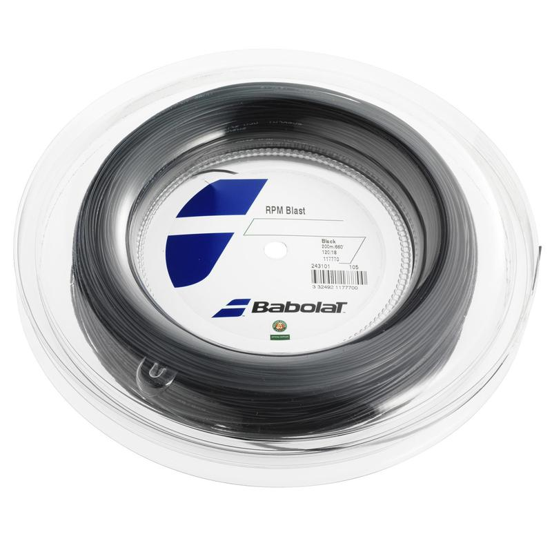 Tennisbesnaring monofilament RPM BLAST 1,25 mm zwart 200 m