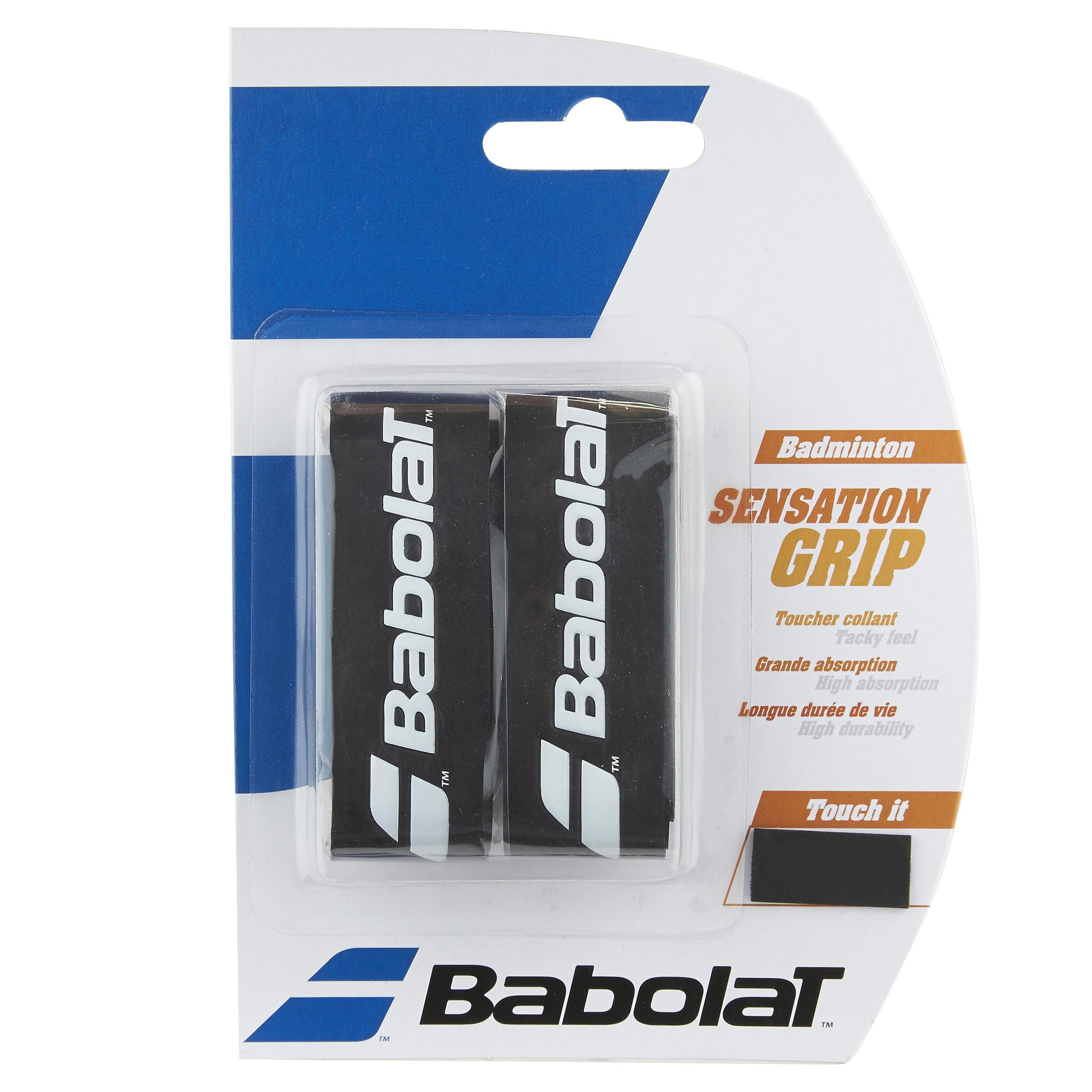Babolat Badminton grip Sensation grip zwart 2 stuks