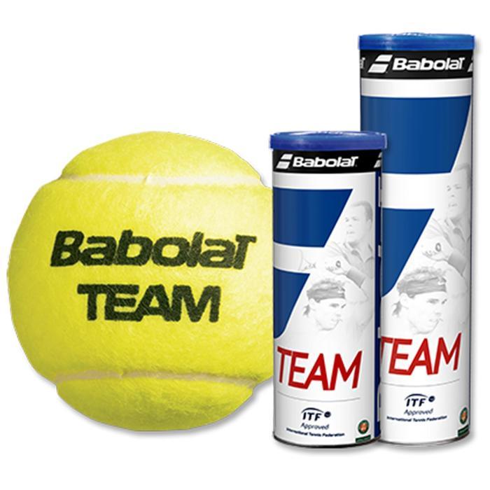 Tennisball Team 4er Dose gelb