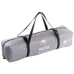 Shelter voor kamperen/trekking 2,5 x 2,5 m 6 personen granietgrijs - 595131