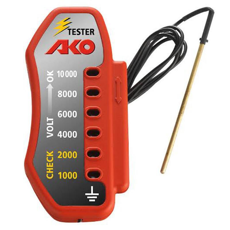 Comprobador de líneas equitación AKO 10 kV para vallas