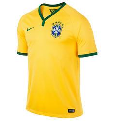 Voetbalshirt voor volwassenen replica Brazilië geel
