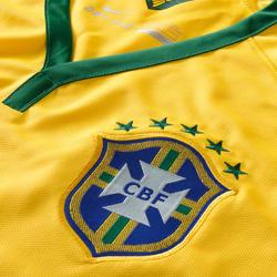 Voetbalshirt voor volwassenen replica Brazilië geel - 595398