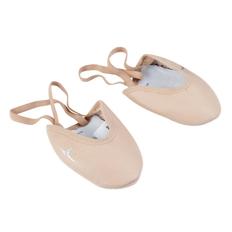 767018e50 Zapatillas y medias puntas de gimnasia - Zapatillas de media punta de  gimnasia rítmica (GR) de piel rosa
