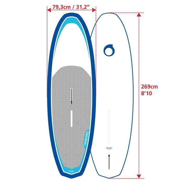 Planche a voile rigide 170L avec dérive et footstraps - 595916