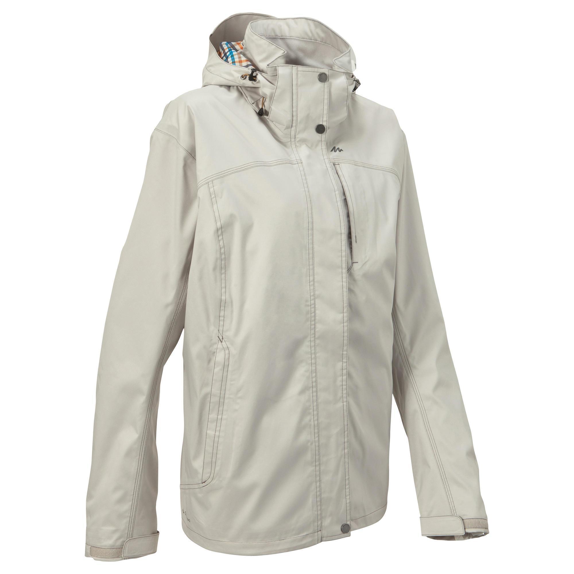 arpenaz 300 womens waterproof hiking rain jacket light