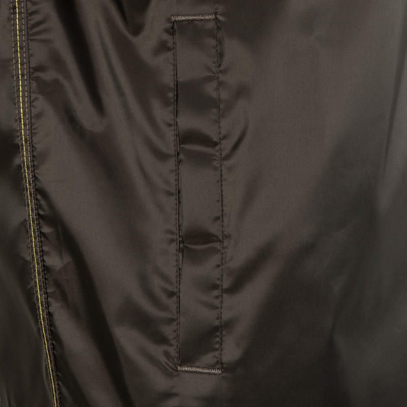 Rain-Cut Zip Men's Hiking Waterproof Rain Jacket - Black