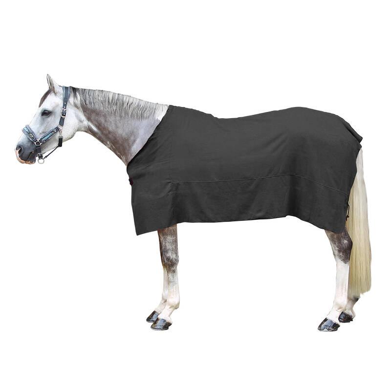 FLEECE SHEETS Jezdectví - ODPOCOVACÍ DEKA ŠEDÁ FOUGANZA - Péče o koně
