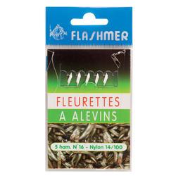 Bas de ligne Fleurette à alevins N°16 x5 pêche en mer
