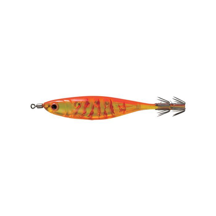 Turlutte Crystal ultra 9 orange pêche des seiches/calamars