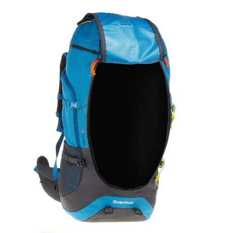 sac dos trekking forclaz 60 litres bleu quechua. Black Bedroom Furniture Sets. Home Design Ideas