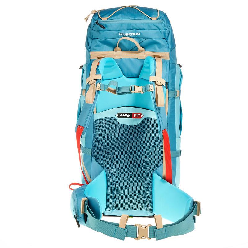 Trekking Backpack Easyfit Women's 60 Litre - Blue