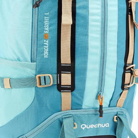 trekkingrucksack easyfit 60 liter damen blau quechua. Black Bedroom Furniture Sets. Home Design Ideas
