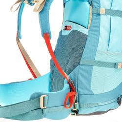 Mochila de Montaña y Trekking Forclaz Easyfit 60 Litros Mujer Turquesa