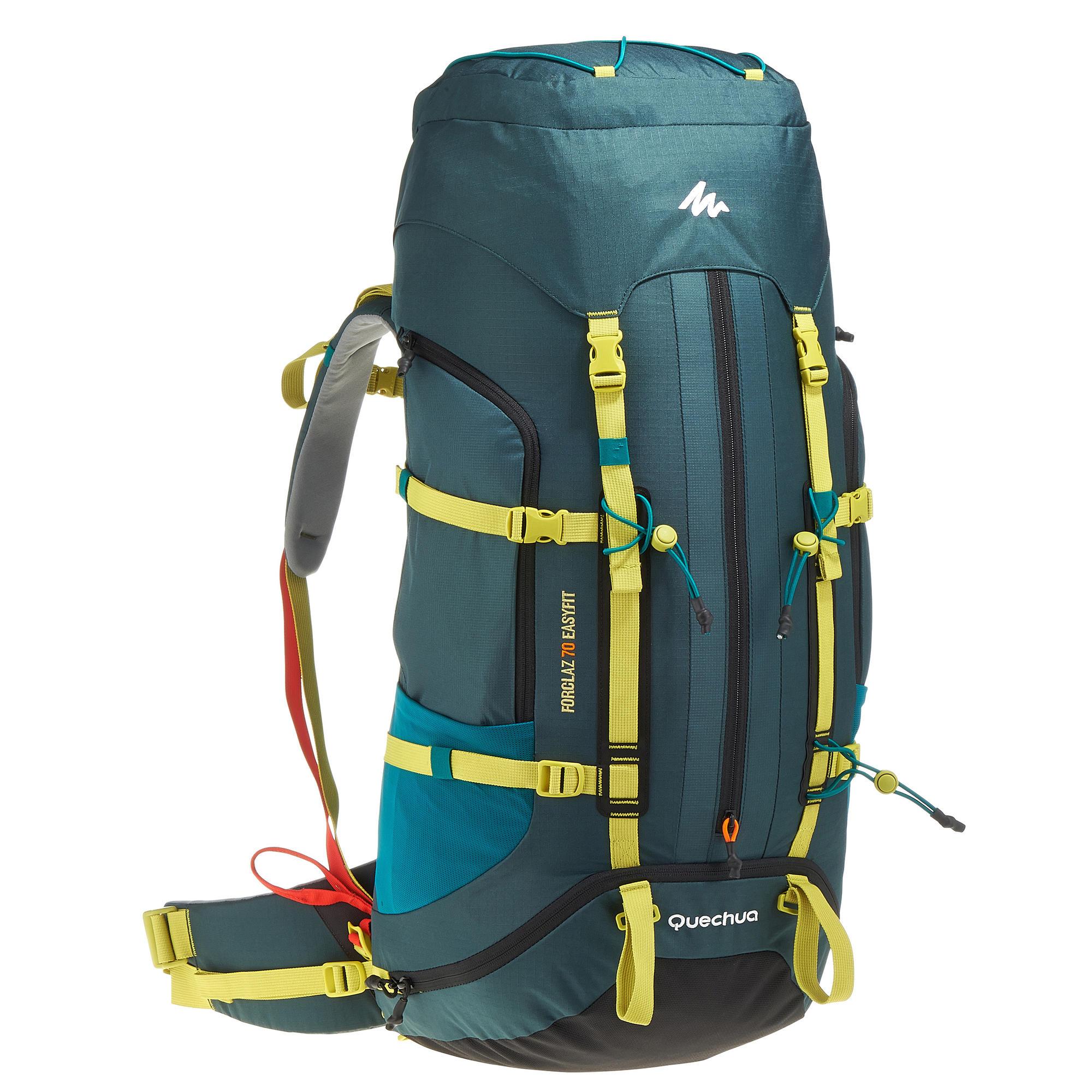 easyfit 70l men�s hiking backpack blue quechua