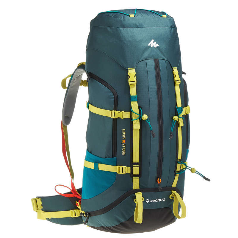 BACKPACKS 50L TO 90L MOUNTAIN TREK Hiking - Easyfit 70L Rucksack - Dark Blue FORCLAZ - Hiking