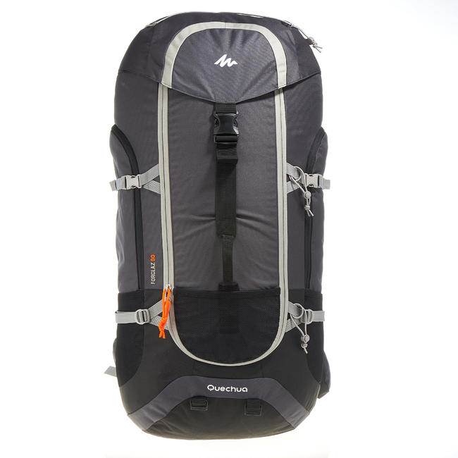 Men's mountain trekking rucksack _PIPE_ FORCLAZ 90L - grey