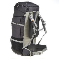 Mochila de Montaña y Trekking Forclaz 90 Litros Gris Oscuro