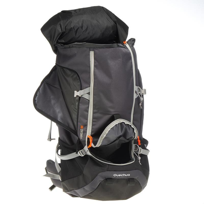 Men's mountain trekking rucksack   FORCLAZ 90L - grey
