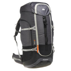 Men's mountain trekking rucksack _PIPE_ FORCLAZ 90L - grey