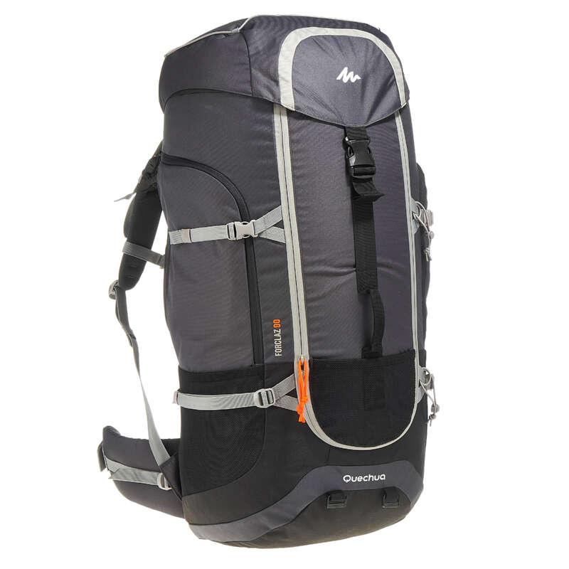 BACKPACKS 50L TO 90L MOUNTAIN TREK Trekking - 90L Rucksack - Dark Grey FORCLAZ - Trekking