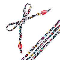Nahia LEO women's beaded swimsuit customisation ties - White