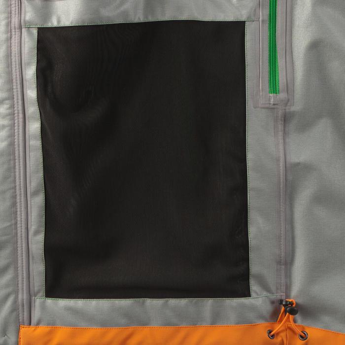 男款登山健行防雨外套MH500-黑色