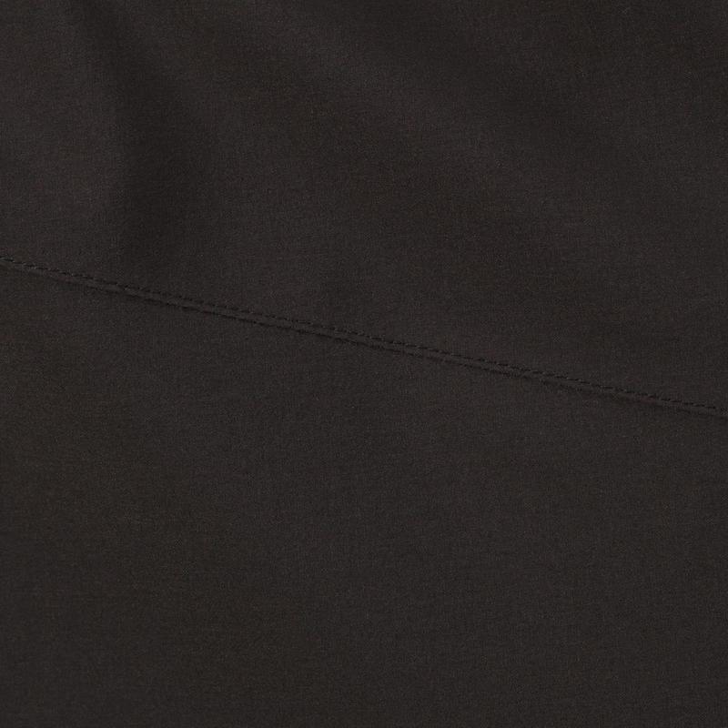 Chaqueta lluvia Senderismo en la montaña MH500 impermeable hombre Negra