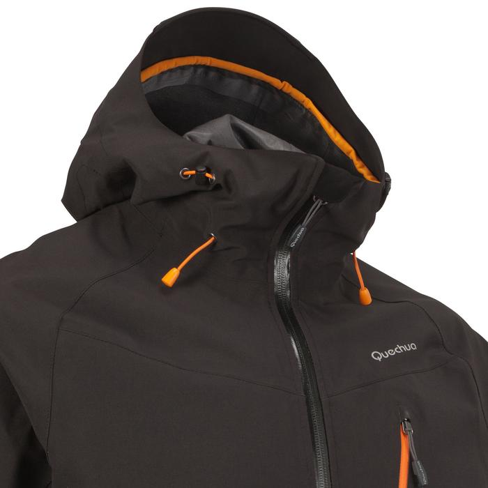 MH500 Men's Waterproof Mountain Hiking Rain Jacket - Black