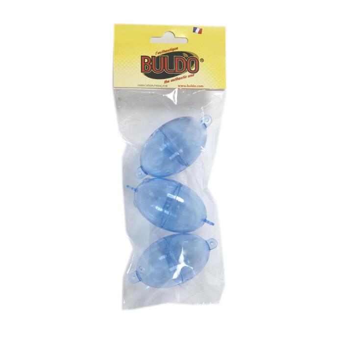 BULLES A EAU/BOMBETTES PECHE EN MER OVALE BULDO N°4 CLEAR x3