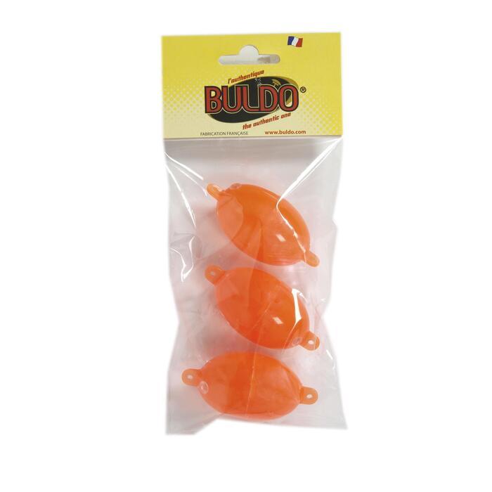 BULLES A EAU/BOMBETTES PECHE EN MER OVALE BULDO N°3 ROUGE X3