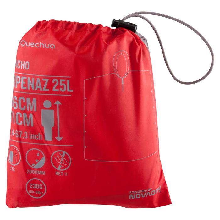 Kinderponcho voor bergwandelen en -trekking Arpenaz 25 liter rood