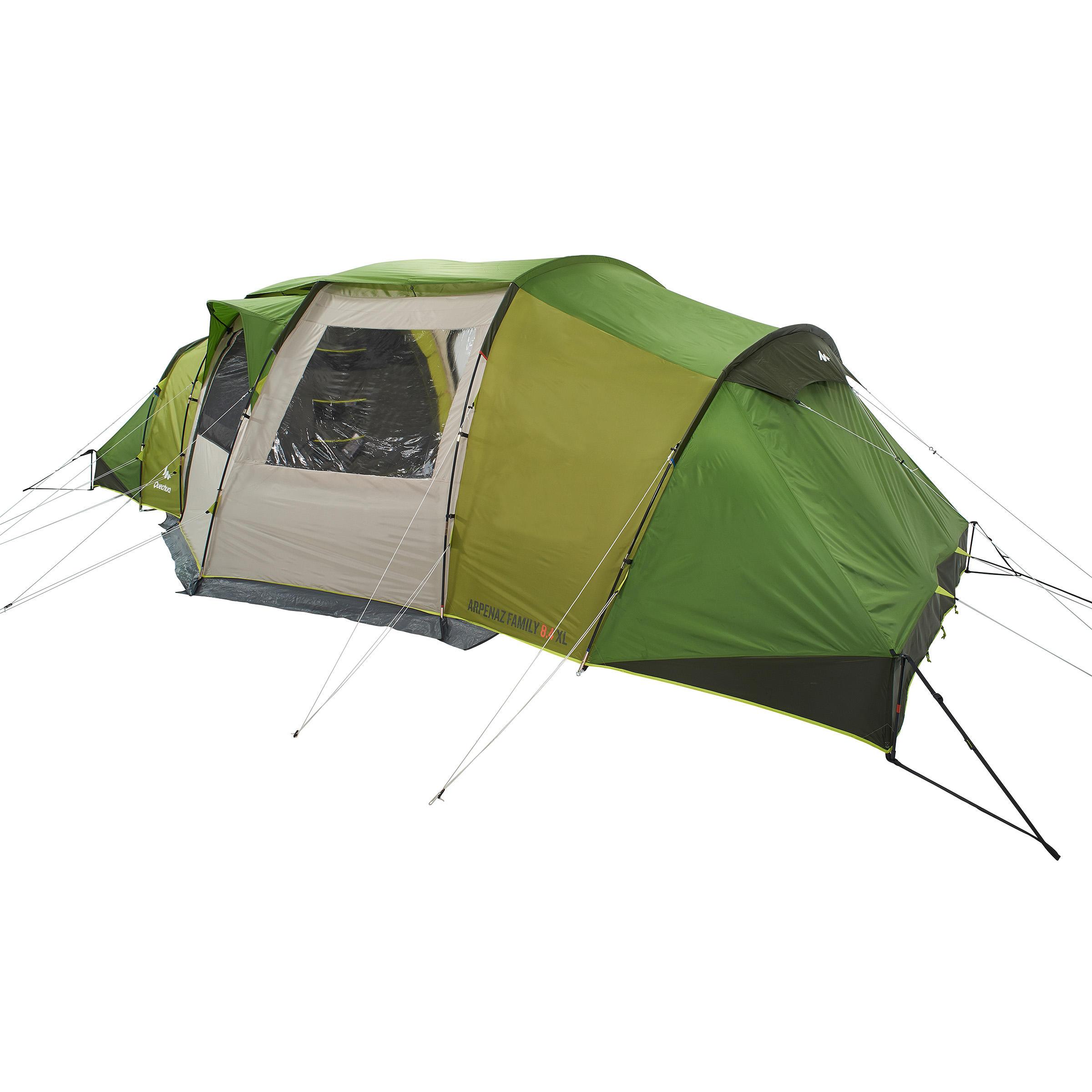 Quechua Tent 8 personen met boogskelet Arpenaz 8.4 | 4 slaapcompartimenten