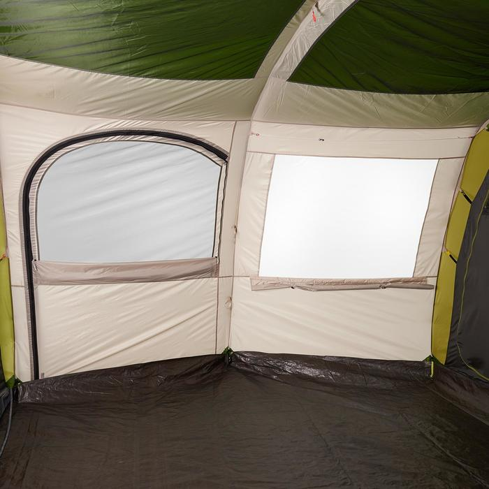 Tent 8 personen met boogskelet Arpenaz 8.4 | 4 slaapcompartimenten