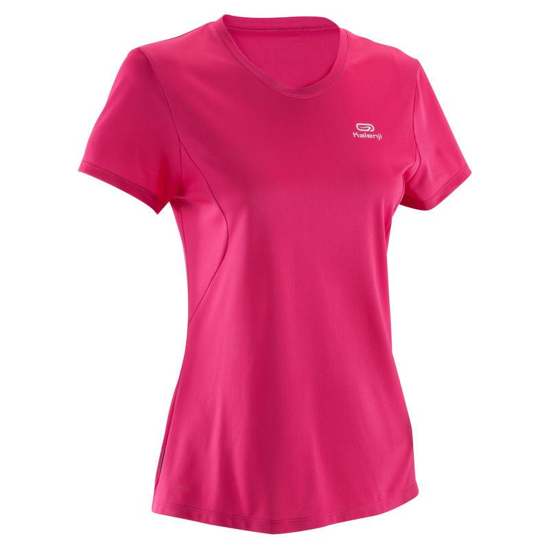 """Moteriški """"Run Dry"""" bėgimo marškinėliai, rožiniai"""