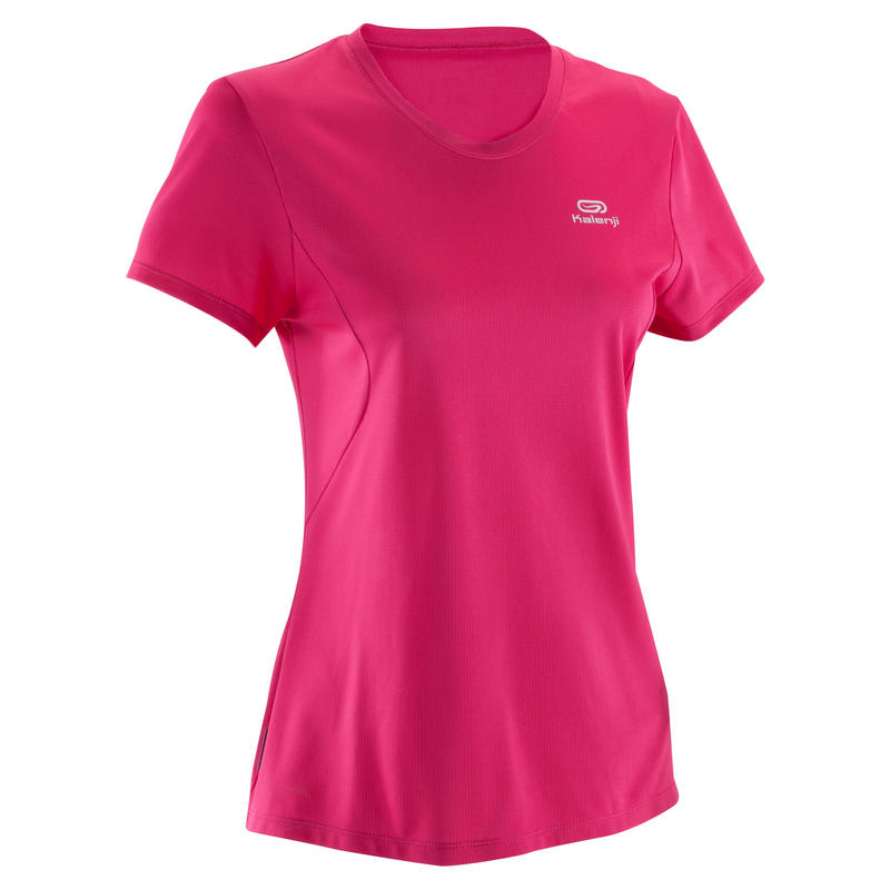 TEE SHIRT JOGGING RUN DRY FEMME ROSE