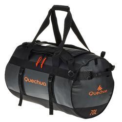 Transporttas voor trekking 70 liter zwart