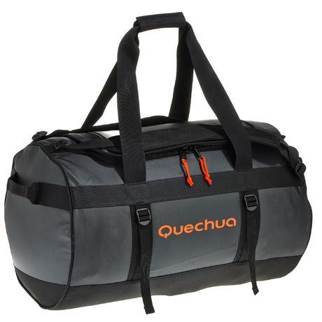 sac de transport trekking voyage 70l noir quechua. Black Bedroom Furniture Sets. Home Design Ideas