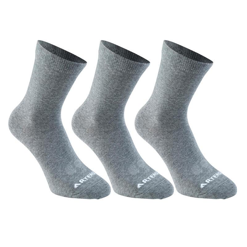 RS 160 Adult High Sports Socks Tri-Pack - Grey