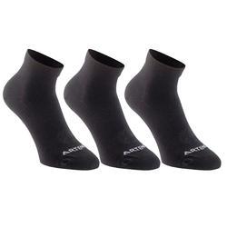 RS 160 成人中筒運動襪三雙組 - 粉 - 雜色