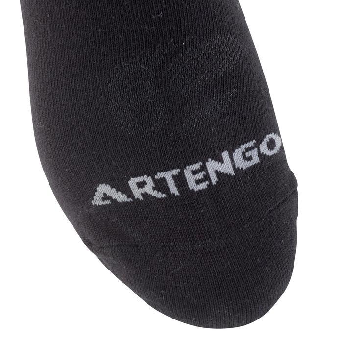 Halfhoge sportsokken voor volwassenen Artengo RS 160, zwart, set van 3 paar