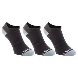 CHAUSSETTES DE SPORT BASSES ADULTE RS800 LOT DE 3