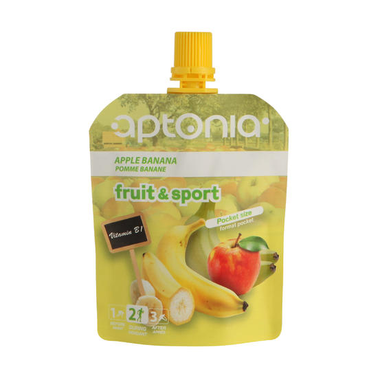 Vruchtenmoes Fruit&Sport banaan-appel 4x90 g - 602205