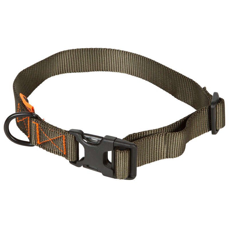 DOG ACCESSORIES Shooting and Hunting - Dog collar 100 green SOLOGNAC - Working Dogs