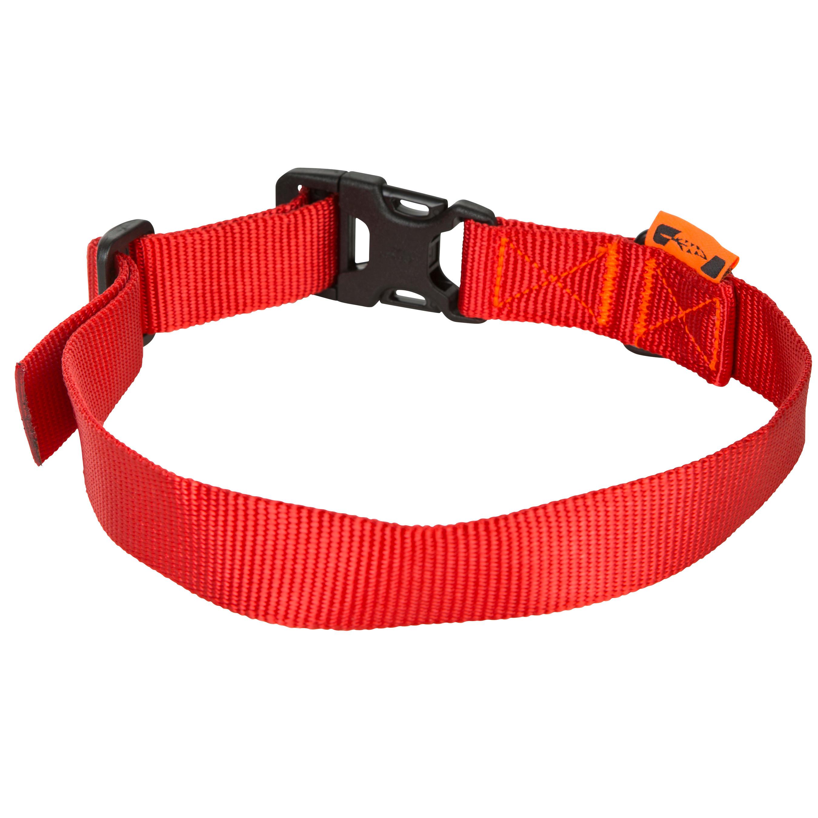 Collier chien 100 rouge solognac