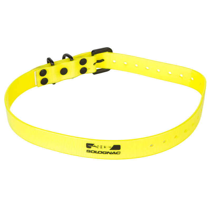 DOG ACCESSORIES - DOG COLLAR 300 HIGH VISIBILITY YELLOW SOLOGNAC