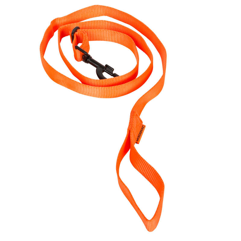 DOG ACCESSORIES Clothing  Accessories - 100 DOG LEASH HIGH VISIBILITY ORANGE SOLOGNAC - Clothing  Accessories
